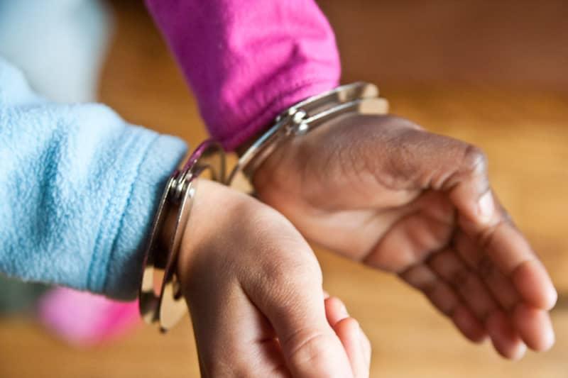 person in cuffs