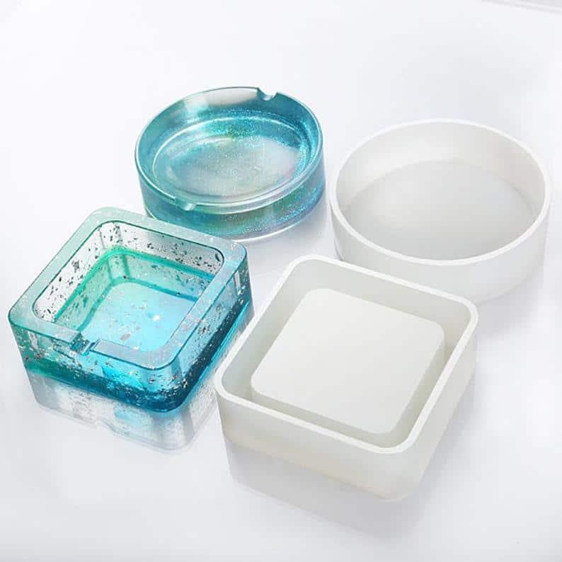 silicone ashtray mold for diy ashtrays