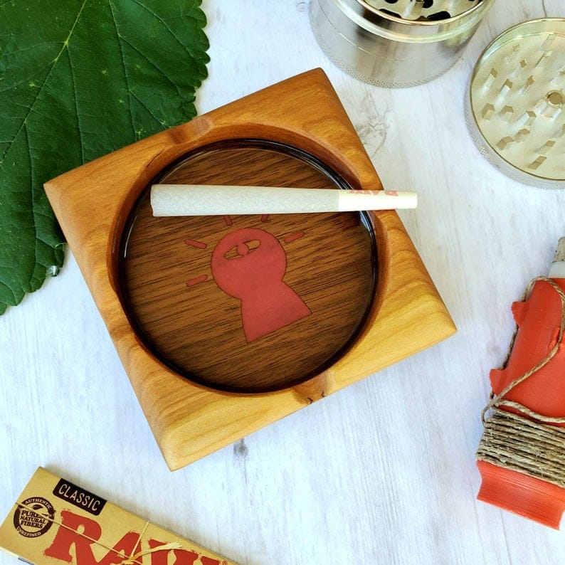 cool wooden ashtray