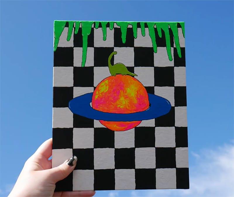 simple easy trippy paintings ideas