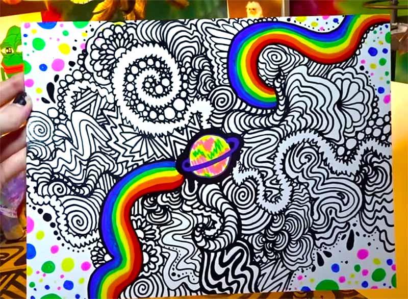 trippy doodle art tutorials