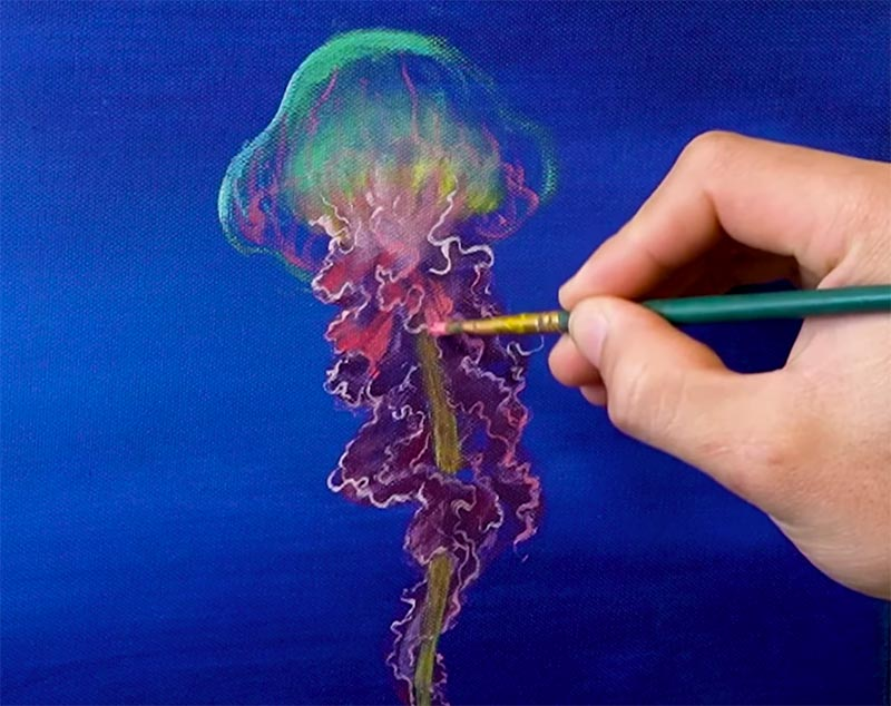 easy jellyfish painting