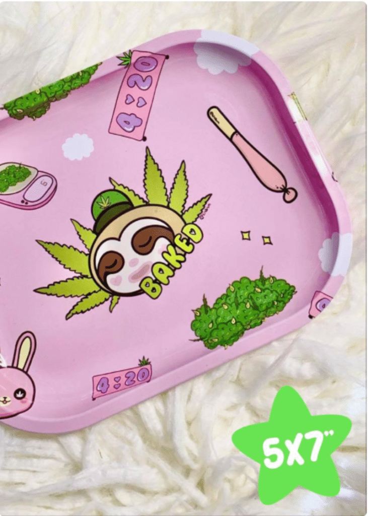 girly rolling tray