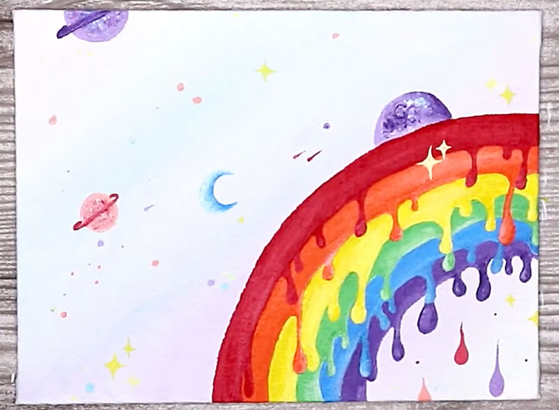 cute rainbow painting