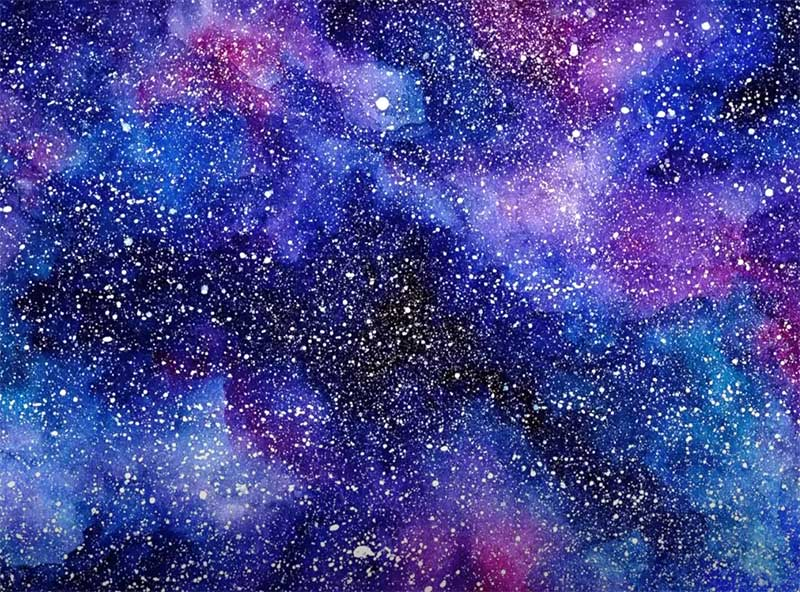 easy galaxy painting
