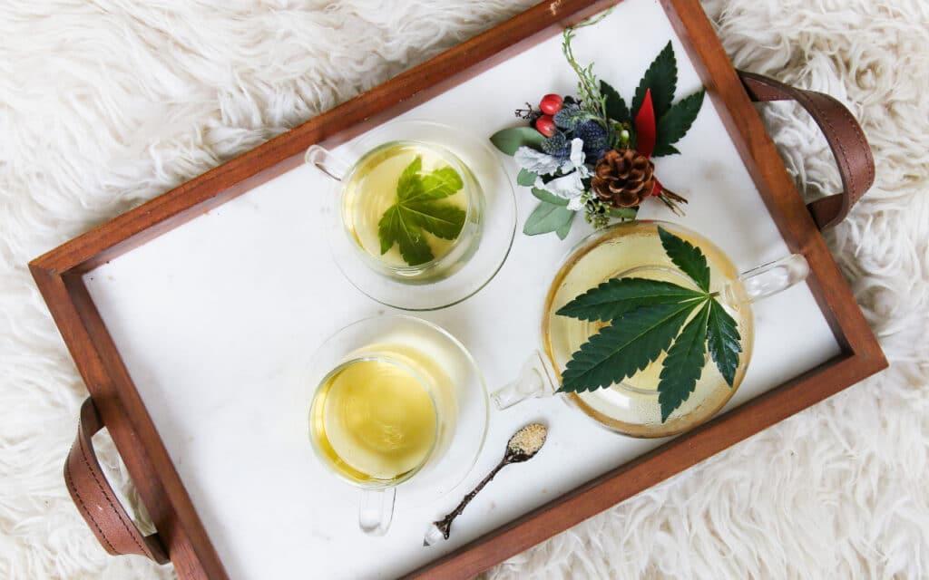 marijuana tea tray