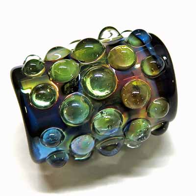 glass dreadlock bead