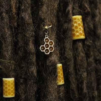 honey dreadlock bead