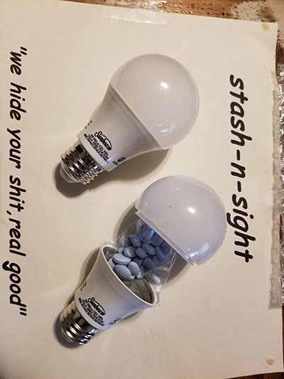 secret stash container bulb