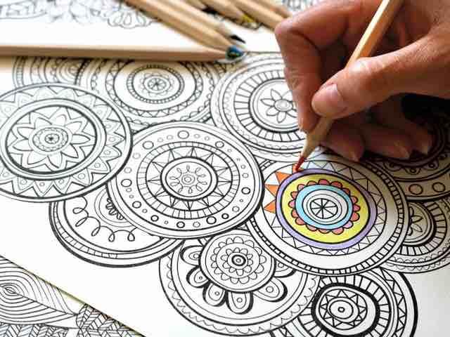 trippy mandala drawing