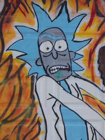 trippy rick and morty drawings