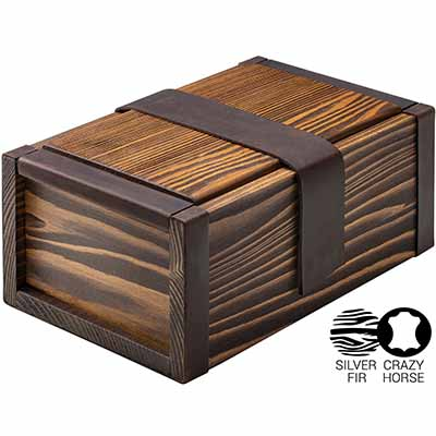 wooden stash container